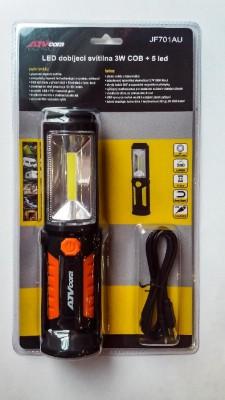 LED dobíjecí svítilna 3W COB + 5 LED